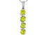Manchurian Peridot ™ .83ctw Sterling Silver 4-Stone Pendant With Chain