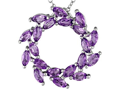 Brazilian Amethyst 1.92ctw Sterling Silver Pendant With Chain