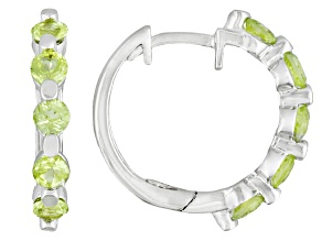 Manchurian Peridot ™ 1.04ctw Sterling Silver Hoop Earrings