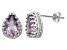 Amethyst Sterling Silver Crown Stud Earrings 2.66 Ctw