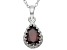 Garnet Sterling Silver Crown Pendant 1.33ctw