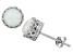 Synthetic Opal Sterling Silver Crown Stud Earrings 1.68ctw
