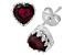 Garnet Sterling Silver Crown Stud Earrings 1.48ctw