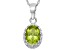 Peridot Sterling Silver Crown Pendant 1.21ctw