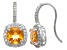 Citrine And Synthetic White Sapphire Sterling Silver Earrings 2.88ctw