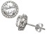 Synthetic White Sapphire Sterling Silver Stud Earrings 3.04ctw