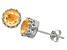 Citrine Sterling Silver Crown Stud Earrings 1.68ctw