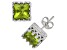 Peridot Sterling Silver Crown Stud Earrings 2.48ctw