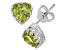Peridot Sterling Silver Crown Stud Earrings 1.48ctw