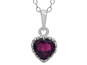 Sterling Silver Garnet Crown Pendant .74ctw