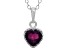 Garnet Sterling Silver Crown Pendant .74ctw