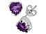 Amethyst Sterling Silver Crown Stud Earrings 1.48ctw