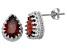 Garnet Sterling Silver Crown Stud Earrings 2.66ctw