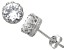 Synthetic White Sapphire Sterling Silver Crown Stud Earrings 1.68ctw