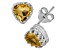Citrine Sterling Silver Crown Stud Earrings 1.48ctw