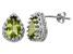 Peridot Sterling Silver Crown Stud Earrings 2.66ctw