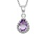Amethyst Sterling Silver Crown Pendant With Chain 1.33ctw