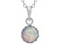 Synthetic Opal Sterling Silver Crown Pendant With Chain .84ctw