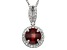 Red Garnet And Synthetic Sapphire Sterling Silver Pendant With Chain 1.47ctw