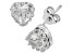 Synthetic White Sapphire Sterling Silver Crown Stud Earrings 1.48ctw
