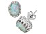 Synthetic Opal Sterling Silver Crown Stud Earrings 2.42ctw