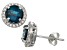 London Blue Topaz And Lab Created White Sapphire Sterling Silver Stud Earrings