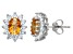 Citrine And White Topaz Sterling Silver Stud Earrings 1.88ctw