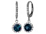 London Blue Topaz And Lab Created White Sapphire Sterling Silver Dangle Earrings
