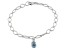 Blue Topaz Sterling Silver Bracelet 7 inches 1.94ct