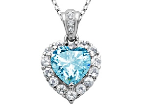Blue Topaz Sterling Silver Pendant With Chain 2.41ctw