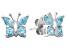 Blue Topaz Sterling Silver Butterfly Earrings .91ctw
