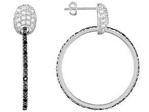 White Zircon Sterling Silver Dangle Earrings 1.69ctw.