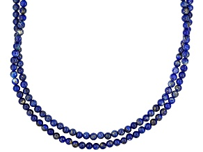 Southwest Style By Jtv™ Round Lapis Sterling Silver 2-Strand Bead Necklace