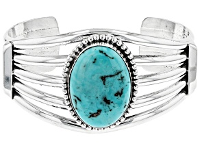 Turquoise Hand-Crafted Silver Cuff Bracelet
