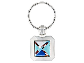 Turquoise Simulant Silver Tone Key Chain