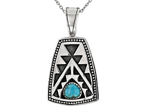 Turquoise Rhodium Over Silver Enhancer With 20