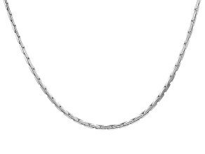 "2mm Rhodium Over Silver 20.5"" Chain"