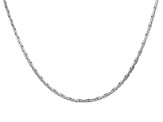"2mm Rhodium Over Silver 24.5"" Chain"