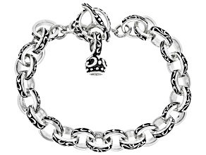Mens Rhodium Over Silver Bracelet