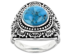 Mens Turquoise Sterling Silver Ring
