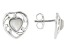 Childrens Mother-Of-Pearl Rhodium Over Silver Earrings