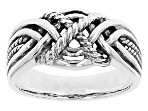 Rhodium Over Sterling Silver Ring