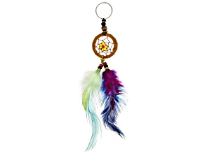 Acrylic Bead Imitation Leather Dream Catcher Key Chain