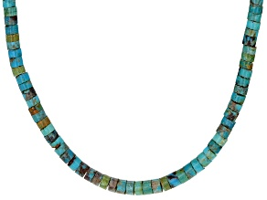 Turquoise Sterling Silver Heshi Bead Necklace