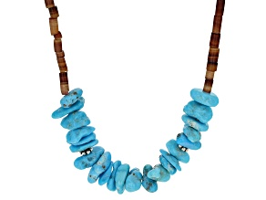 Sleeping Beauty Turquoise & Shell Silver Necklace