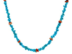 Sleeping Beauty Turquoise Beaded Necklace