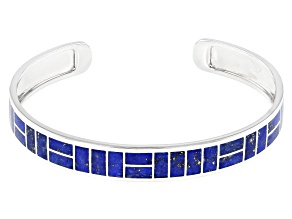 Blue Lapis Lazuli Sterling Silver Cuff Bracelet