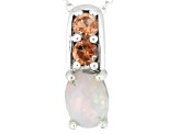 Ethiopian Opal Sterling Silver Pendant With Chain .94ctw