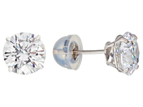 Bella Luce ® 3.00ctw Round 10k White Gold Stud Earrings