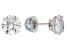 Bella Luce ® 3.00ctw Round White Cubic Zirconia 10k White Gold Stud Earrings